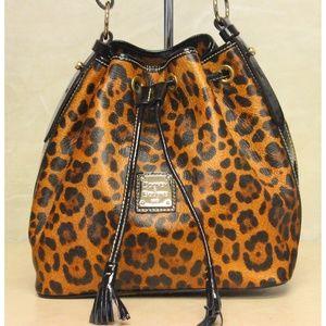 Dooney & Bourke Brown Leopard Print T'moro Bag